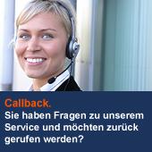 Callback. Sie haben Fragen zu unserem Service und möchten zurück gerufen werden?