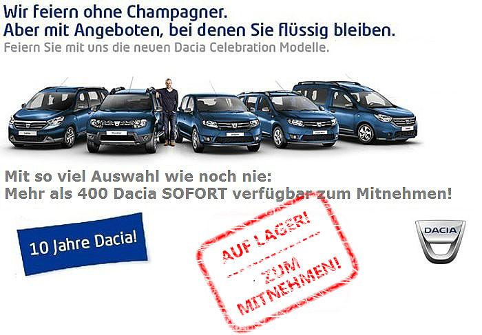 10 Jahre Dacia - Auswahl wie nie!