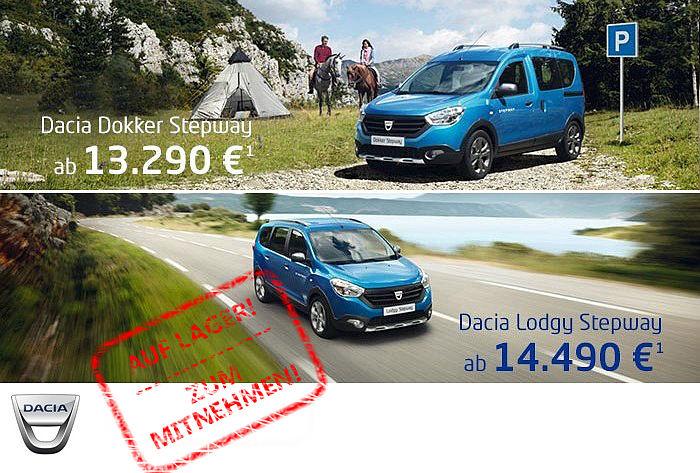 Die Dacia Stepway- Modelle - jetzt bei uns!