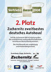 2. Platz Vertriebsaward