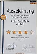 4/5 Sternen von AutoScout24-Nutzer für den Auto-Park Rath