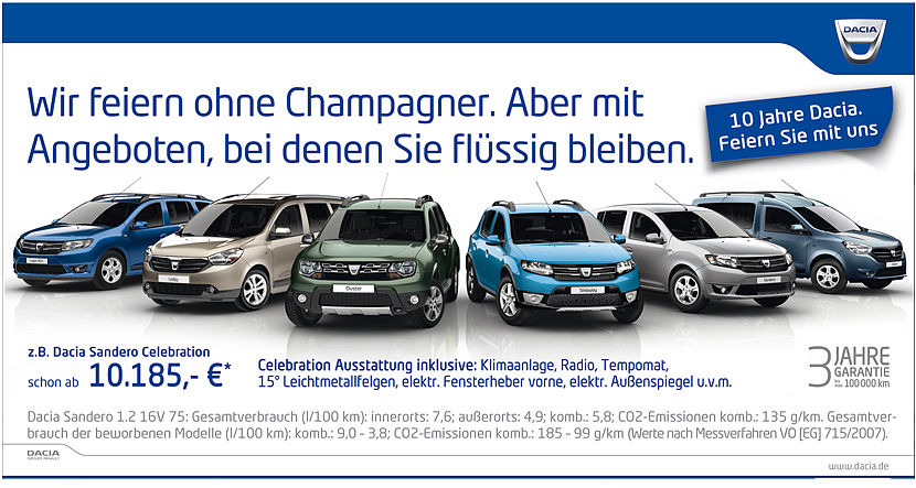 Dacia Range Celebration