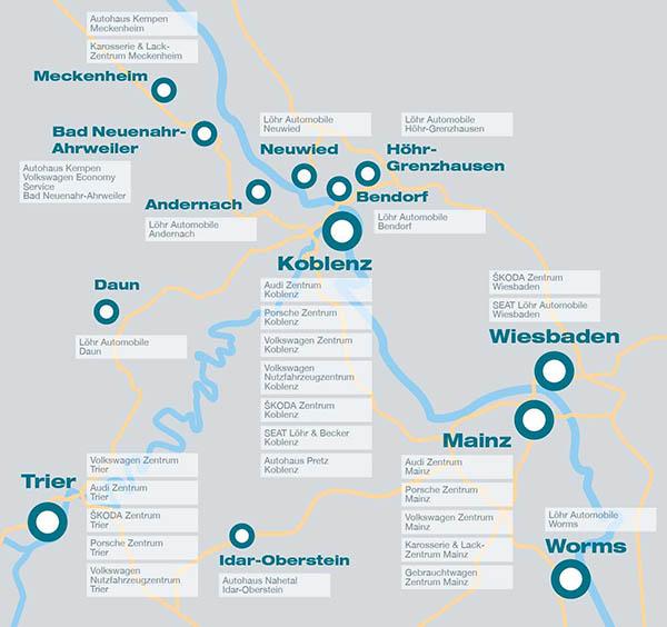 Große Karte der Leistungszentren öffnen