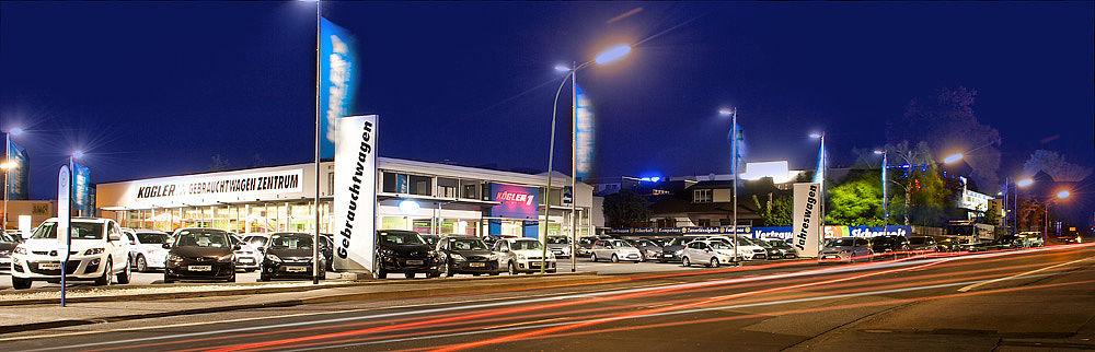 Nachtbild Gebrauchtwagenseite
