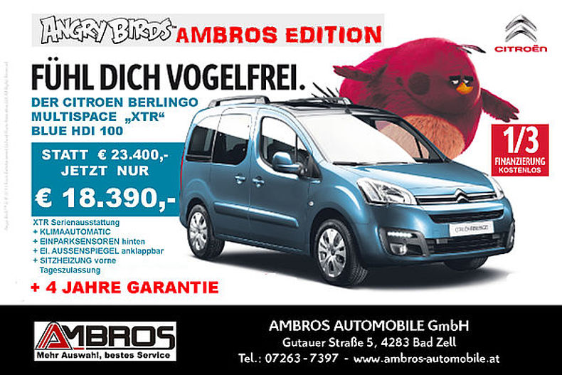 Berlingo XTR Angry Birds Ambros Edition
