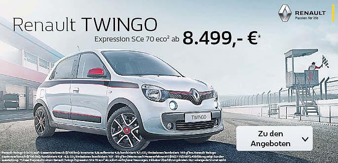 Renault Twingo im Autohaus Boden in Essen und Mülheim als Neuwagen zum Sonderpreis