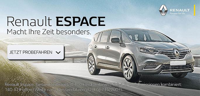 der neue Renault Espace Ab Mai Autohaus Boden in Essen und den wahren Luxus erleben