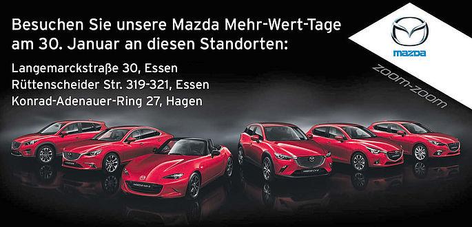 Mazda Mehr-Wert-Tage OPOan den Standorten Langemarckstraße, Rüttenscheid, Hagen