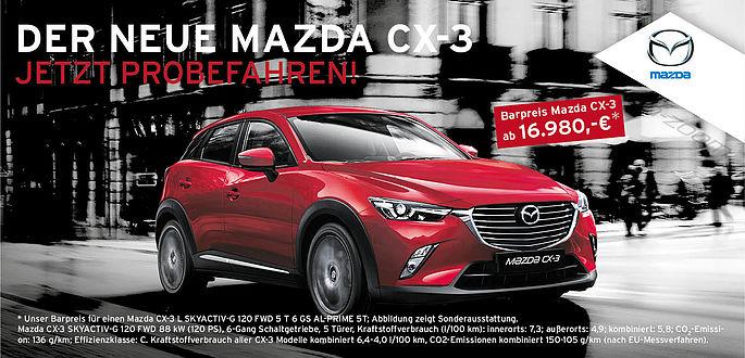 Mazda CX-3 im Autohaus Boden in Essen Probefahren.