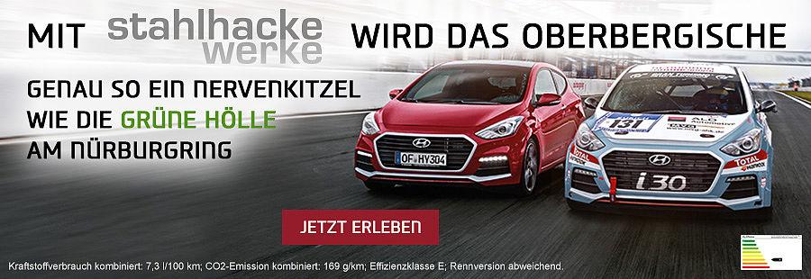 i30 Turbo , Nürburgring, Sthalhackewerke, Hyundai