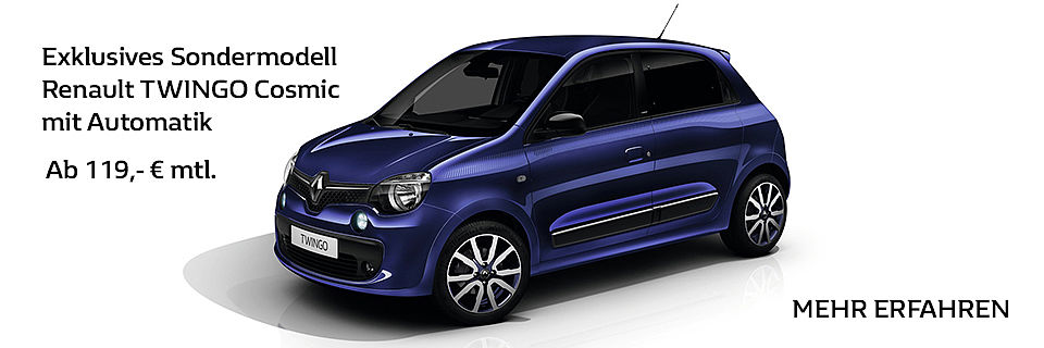 Exklusives Sondermodell Renault TWINGO Cosmic