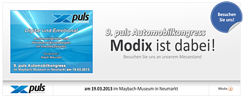 9. puls Automobilkongress - Modix war dabei!