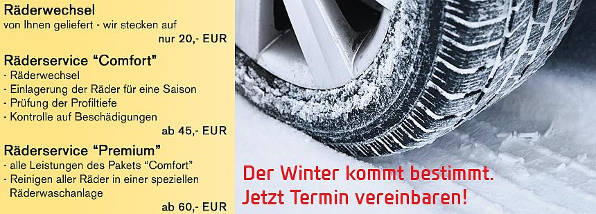 Räderwechsel Winter inkl. Einlagerung