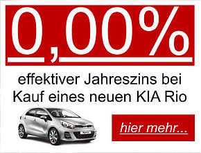 0,00%-Aktion KIA Rio