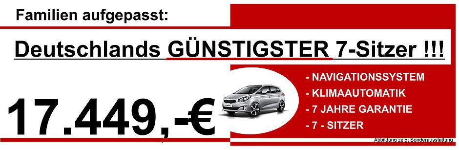 Deutschlands günstigster 7-Sitzer