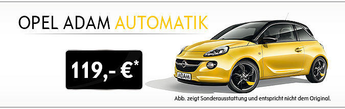 aus der werbung der opel adam automatik. Black Bedroom Furniture Sets. Home Design Ideas