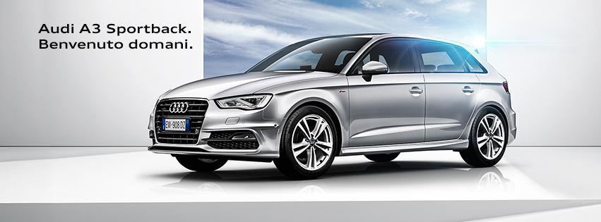 Audi A3 Sportback benvenuto domani