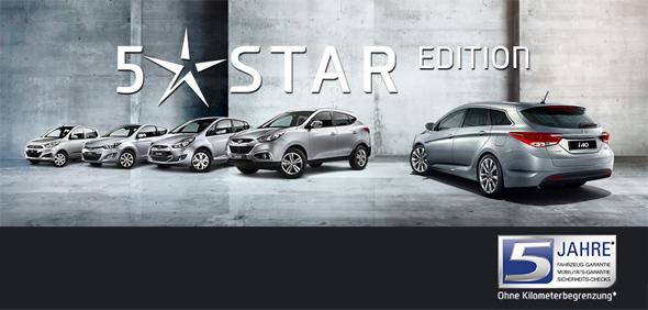 die hyundai 5 star edition - sondermodelle i10, i20, ix20, ix35, i40