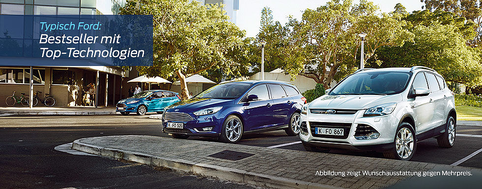 Ford focus Blau Kuga weiss