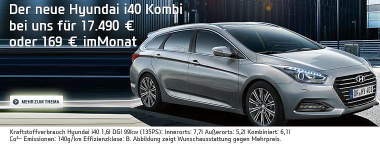 Der neue Hyundai i40 Kombi Facelift ab 17.490 €