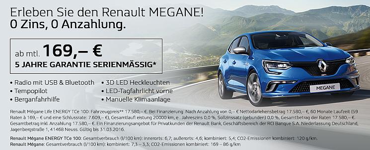 Erleben Sie den Renault MEGANE!