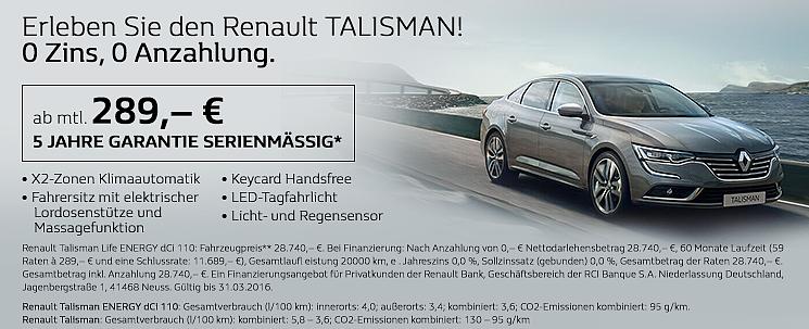 Erleben Sie den Renault TALISMAN!
