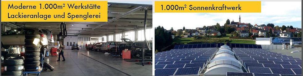 1000 m² Sonnenkraftwerk  DAS C02 neutrale Autohaus