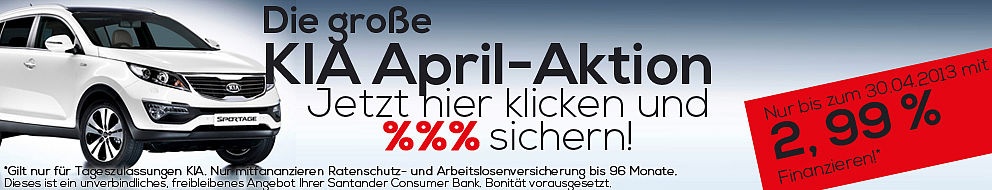 KIA April Aktion 2,99