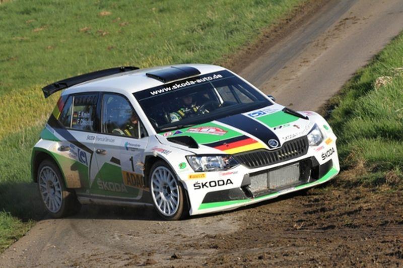 Licht und Schatten für ŠKODA bei der ADAC Hessen Rallye Vogelsberg